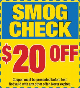 $20 OFF on Smog Check