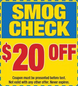 $20 OFF on Smog Check